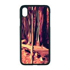 Forest Autumn Trees Trail Road Apple Iphone Xr Seamless Case (black)