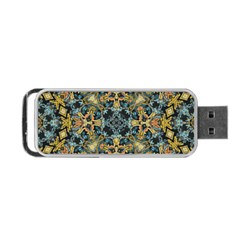Seamless Texture Ornate Portable Usb Flash (two Sides)