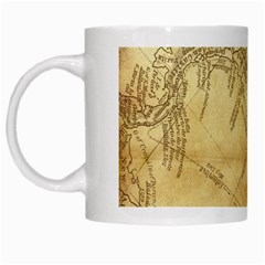 Vintage Map Background Paper White Mugs