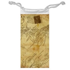 Vintage Map Background Paper Jewelry Bag