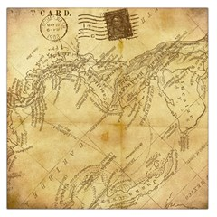 Vintage Map Background Paper Large Satin Scarf (square)