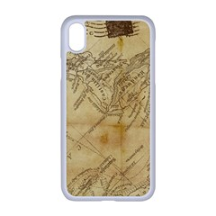 Vintage Map Background Paper Apple Iphone Xr Seamless Case (white)