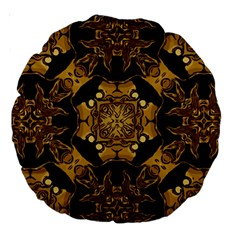 Gold Black Book Cover Ornate Large 18  Premium Round Cushions