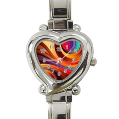 Abstract Colorful Background Wavy Heart Italian Charm Watch