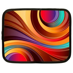 Abstract Colorful Background Wavy Netbook Case (xl) by Pakrebo