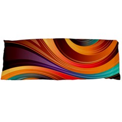 Abstract Colorful Background Wavy Body Pillow Case Dakimakura (two Sides) by Pakrebo