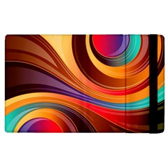 Abstract Colorful Background Wavy Apple Ipad 2 Flip Case by Pakrebo