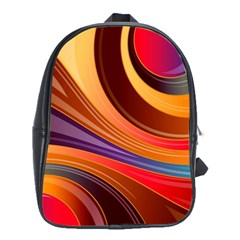 Abstract Colorful Background Wavy School Bag (xl)