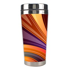 Abstract Colorful Background Wavy Stainless Steel Travel Tumblers