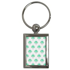 Plant Pattern Green Leaf Flora Key Chains (rectangle)