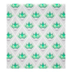 Plant Pattern Green Leaf Flora Shower Curtain 66  X 72  (large)