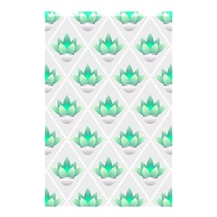 Plant Pattern Green Leaf Flora Shower Curtain 48  X 72  (small)