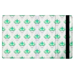 Plant Pattern Green Leaf Flora Apple Ipad 2 Flip Case