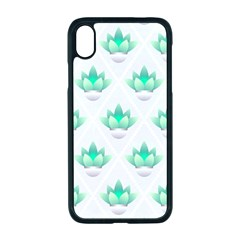 Plant Pattern Green Leaf Flora Apple Iphone Xr Seamless Case (black)