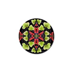 Pattern Berry Red Currant Plant Golf Ball Marker