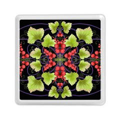 Pattern Berry Red Currant Plant Memory Card Reader (square) by Pakrebo