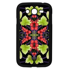Pattern Berry Red Currant Plant Samsung Galaxy Grand Duos I9082 Case (black)