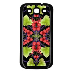 Pattern Berry Red Currant Plant Samsung Galaxy S3 Back Case (black) by Pakrebo