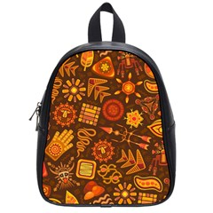 Pattern Background Ethnic Tribal School Bag (small)