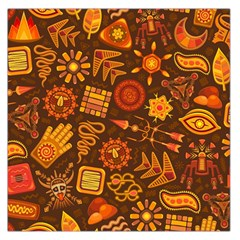 Pattern Background Ethnic Tribal Large Satin Scarf (square)