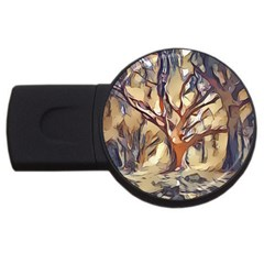 Tree Forest Woods Nature Landscape Usb Flash Drive Round (2 Gb)