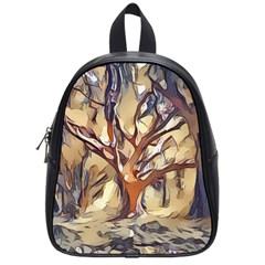 Tree Forest Woods Nature Landscape School Bag (small) by Pakrebo