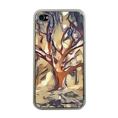 Tree Forest Woods Nature Landscape Apple Iphone 4 Case (clear)