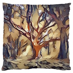 Tree Forest Woods Nature Landscape Large Cushion Case (two Sides)