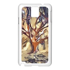 Tree Forest Woods Nature Landscape Samsung Galaxy Note 3 N9005 Case (white)