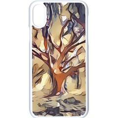 Tree Forest Woods Nature Landscape Apple Iphone X Seamless Case (white) by Pakrebo