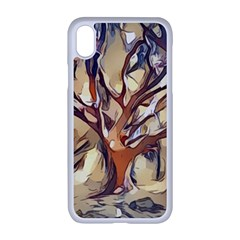 Tree Forest Woods Nature Landscape Apple Iphone Xr Seamless Case (white)