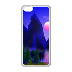 Mountains Dawn Landscape Sky Apple Iphone 5c Seamless Case (white)
