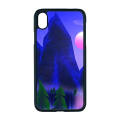 Mountains Dawn Landscape Sky Apple Iphone Xr Seamless Case (black)