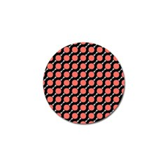 Between Circles Black And Coral Golf Ball Marker (4 Pack) by TimelessDesigns