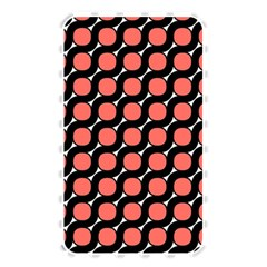 Between Circles Black And Coral Memory Card Reader (rectangular) by TimelessFashion
