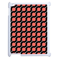 Between Circles Black And Coral Apple Ipad 2 Case (white) by TimelessDesigns