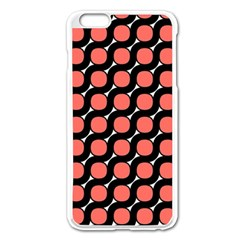 Between Circles Black And Coral Apple Iphone 6 Plus/6s Plus Enamel White Case