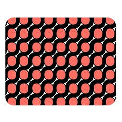 Between Circles Black And Coral Double Sided Flano Blanket (large)  by TimelessDesigns