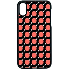 Between Circles Black And Coral Apple Iphone Xs Seamless Case (black)