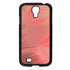 Palms Shadow On Living Coral Samsung Galaxy S4 I9500/ I9505 Case (black)