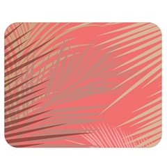 Palms Shadow On Living Coral Double Sided Flano Blanket (medium)  by LoolyElzayat