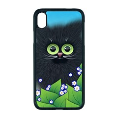 Kitten Black Furry Illustration Apple Iphone Xr Seamless Case (black)