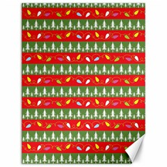 Christmas Papers Red And Green Canvas 12  X 16