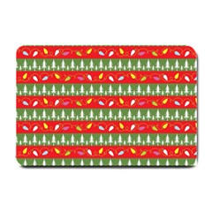 Christmas Papers Red And Green Small Doormat  by Pakrebo