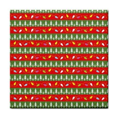 Christmas Papers Red And Green Face Towel