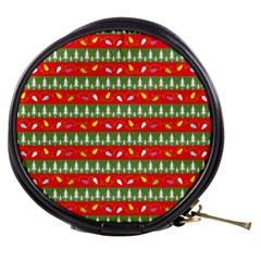 Christmas Papers Red And Green Mini Makeup Bag