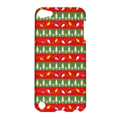 Christmas Papers Red And Green Apple Ipod Touch 5 Hardshell Case by Pakrebo