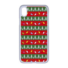Christmas Papers Red And Green Apple Iphone Xr Seamless Case (white)