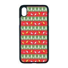 Christmas Papers Red And Green Apple Iphone Xr Seamless Case (black)