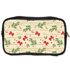 Christmas Paper Scrapbooking Toiletries Bag (two Sides)